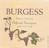 Burgess CS Library 2003 Label