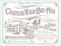 Chateau Tour Bel Air Front Label