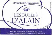 Voge Les Bulles d'Alain Label